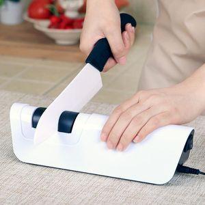 Elettrico per affilare i coltelli professionale coltelli Diamond Sharpener affilatura della lama da cucina Strumenti di affilatura Sistema cucina gadget Bianco