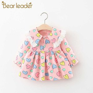 Bear Leader Toddler Girls Dress 2020 New Fashion Kids Flowers Outfits Cute Baby Girls Clothes Lace Sweet Costumes Casual Suits