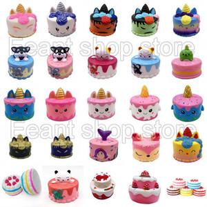 귀엽다 점보 다채로운 다른 스타일 딸기 케이크 사슴 케이크 퀴시 향수 느린 상승 통풍 시뮬레이션 유니콘 케이크 아이 장난감