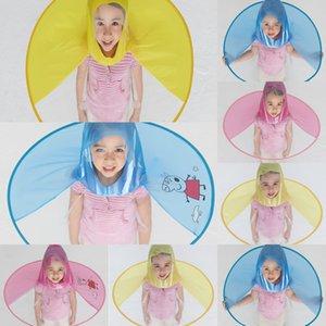 Baby umbrella UFO cap umbrella head-mounted children's raincoat rainproof folding Cartoon creative UFO cap