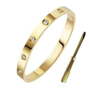 Klassischer Luxus Designer-Schmuck Frauen Armbänder 18k Gold 316L Edelstahl Nagelschraube Armband Liebe Armband mit original Tasche