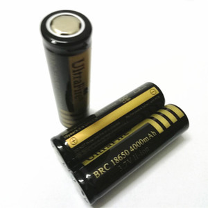 Haute qualité batterie 18650 UltreFire, 18650 4000mAh Black GOld batterie batterie au lithium plat, peut être utilisé dans une lampe de poche brillante et ainsi de suite.