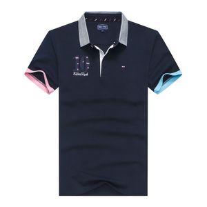 Großhandel Business Office-Polo-Hemd-Marken-Männer Kleidung Fest Männer Eden Park Stickerei Polo Shirts Freizeit Polohemd aus Baumwolle atmungsaktiv T-Shirt