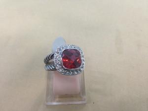 femininos das senhoras novas das mulheres de luxo quente de punk dj grandes Gemstone anel de diamante diamantes de cristal dedo anéis 7colors frete grátis