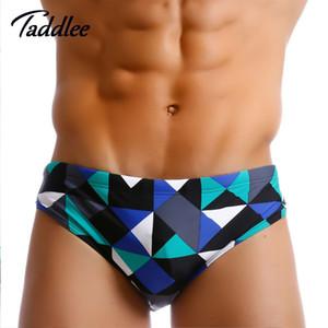 Taddlee Brand Brazilian Classi Cut Herren Badebekleidung Sexy Badeanzüge Badehosen Bikini Homosexuell Penis Pouch Pad Innerhalb Surf Board Shorts J190715