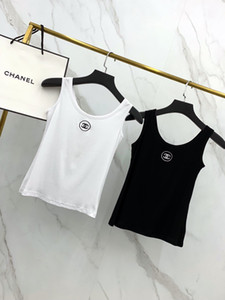 2020 European American street sexy luxury nightclub women vest comfortable short breathable chest logo embroidery slim underwear vests