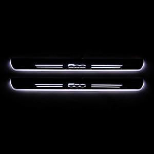 Bewegen LED Willkommen Pedal-Auto-Verschleiss-Platte Pedal Einstieg Pathway Licht für Fiat 500 500C 500X 500L