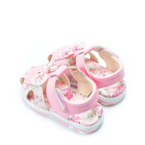DIMI 2019 Summer Girls Sandals Comfortable Soft PU Leather Little Girl Bow Princess Shoes Cute Flower Kids Sandals For Girl CX200629