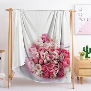 Design flowers full size blanket sleeping blanket flannel blanket travel sofa single double large bedding