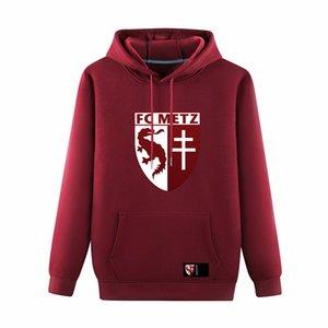 FC Metz HOMBRES fútbol Pullover Hoodie Sudaderas Adulto Deporte fútbol Pullover Hooded invierno Entrenamiento Suéter abrigo Hombres Sudaderas con capucha Sudaderas