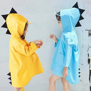 a908Q Baby children creative Cloak cloak raincoat boys and girls kindergarten students children poncho Autumn 2-6 years old cartoon dinosaur