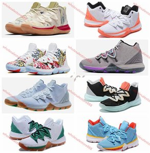 xshfbcl 2020 New Arrival Mens Kyrie Shoes TV PE Basketball Shoes 5 For Cheap 20th Anniversary Sponge x Irving 5s V Five lusso Sports Sneaker