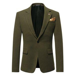 Nuevo otoño invierno para hombre Blazer casual Chaqueta para hombre Blazers Traje de novio Hombre de negocios Slim Fit Color sólido Outwear M-4XL