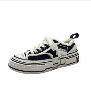 Zapatillas de lona de alta calidad para mujer Diseñador de moda de lujo Negro Blanco Rosa Buque Tripe S Peace by Piece Speed Athletic Shoes