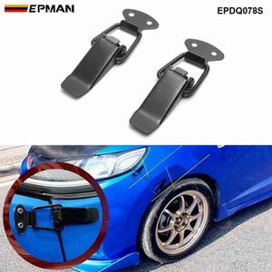 EPAN ل JDM الرياضة قابلة للقفل التبديل السحابة الإفراج السريع السحابات سيارة مصدات جذع درابزين هاتش غطاء قبض كليب EPDQ078S