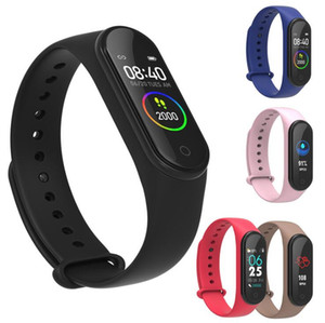 M4 Smart Band Fitness Tracker Watch Pulsera deportiva Reloj inteligente de ritmo cardíaco Monitor de banda inteligente de 0.96 pulgadas Salud Pulsera PK Mi banda 4