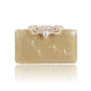 Saco da mulher para o ombro casar / banquete / party bolsas vestido de noite tote lasca ouro embreagem bolsa bolsa com strass navio livre