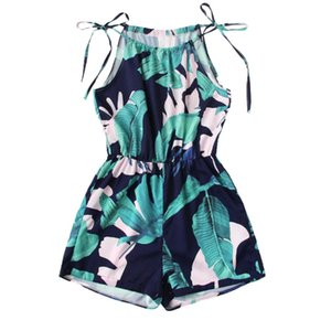 2019 Fashion Women Jumpsuits Casual Polyester Flower Print O-Neck Sleeveless Camis Bandage Camisole Rompers Playsuit A10 AP9