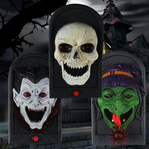 Spedizione Luce Animated male strega Porta Campana Campanello Eye suono Halloween Prop spaventoso spettrale del suono decorazione di Halloween di goccia