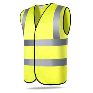 umeimei Yellow Hi-Vis Safety Vest Jacket