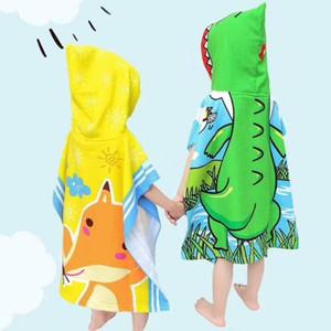 باباي بيجامات للأطفال منشفة حمام منشفة الشاطئ رداء الرأس للأطفال كيب الكرتون طباعة مقنع منشفة حمام