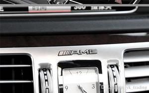 Mercedes Benz amg Aufkleber Logo Markenemblem Aufkleber Lenkrad Lager Kreis Zentralsteuerknopf Autoinnenraum amg Freier Refit Aufkleber
