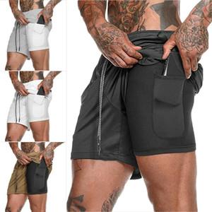 Panneau de survêtement de poche Sport Entraînement Shorts Entraînement Casual Running Hommes Cachée Jogging Fitness XQOlGG