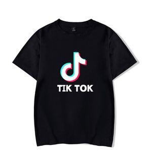 Tik tok Lazer t camisas Dos Homens / mulheres Respirável Roupas Tops Moda Masculina Confortável Harajuku Tik tok curto camiseta streetwear