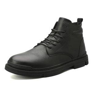 New Arrival Men's Vintage Ankle Boots Winter Warm Men Shoes Casual Male Leather Shoes Comfortable Men Plush Boots