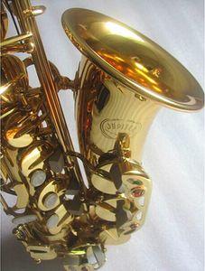 Jupiter Alto Saxophone Modelo JAS-769 Intermediário ouro Lacquer E Plano Alto Sax Instruments com caso