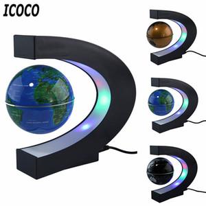 Mapa Do Mundo LEVOU Levitação Magnética Globo Flutuante Eletrônico Antigravidade Lâmpada Novidade Bola Luz Decoração de Aniversário