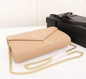 2019 Marke Modedesigner Taschen Einfache Retro-Atmosphäre Chain Pack elegante undeutliche Umhängetasche Umhängetasche