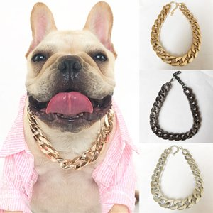 Dog Gold Chain Teddy Bagor Small And Medium Dog Collar Pet Necklace Accessories