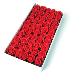 5.5x6cm atacado baratos Soap Rose Cabeça de casamento romântico do presente do dia banquete do casamento Decoração dos Namorados arte da flor da mão