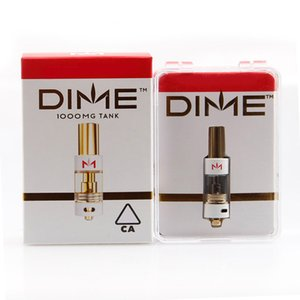 New DIME Cartridge Vape Pen Carts 0.8ML 510 Gold Tank Thick Oil Ceramic Coils Empty Atomizer Pen With Plus Packaging Box