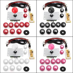 Jogo DIY Arcade Set Kits Encoder Peças de reposição USB para PC Joystick e botões - Branco