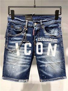 Новые летние мужские джинсы шорты высокого качества мотоцикла велосипедиста джинсы Короткие штаны тощий Тонкий Ripped отверстие для мужчин Denim шорты