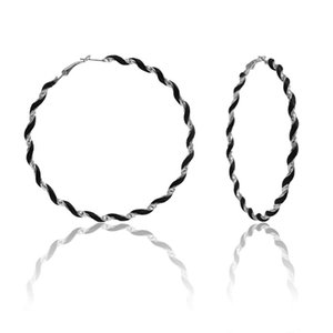Classic Women Cricle Round Twisted Hoop Earring Vintage Mixed Color Alloy Earring Shellhard Punk Jewelry oorbellen voor vrouwen