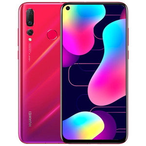 Original Huawei Nova 4 4G LTE Cell Phone 8GB RAM 128GB ROM Kirin 970 Octa Core Android 6.4 inch Full Screen 25MP Face ID Smart Mobile Phone