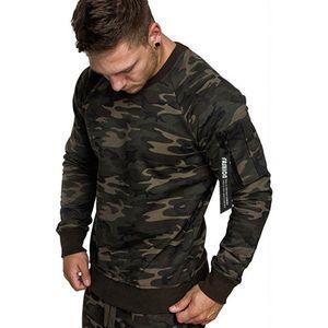 Camouflage Felpe Solid Pullover Casual attivo Camicie Uomo manica lunga Homme felpe con tasca 2020 molla Mens