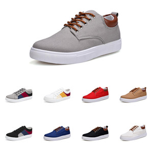 Hommes Chaussures sans marque toile spotrs Sneakers Casual Blanc Noir Rouge Gris Kaki Bleu Mode New Style Chaussures 219