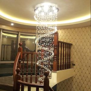 현대 K9 대형 LED 나선형 거실 크리스탈 샹들리에 조명기구 계단 계단 램프 쇼케이스 침실 호텔 홀