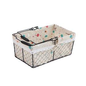 FashionPicnic Hand Baskets Falztaschen Camping faltbare Grocery Supermarkt Einkaufswagen Eisen Portable Storage Basket