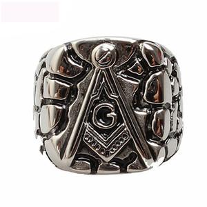 Luxus Freemasonry AG Ringe Titan Stahl Casting Jewel Ringe Schmuck Für Männer Jahrestag Party Geschenke Freies Verschiffen