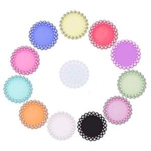 Botón de diamantes de imitación de resina tapa de la botella bandeja de configuración clave cubierta tapas tamaño interno 25 mm 1 pulgada 10 UNIDS BTN-5654