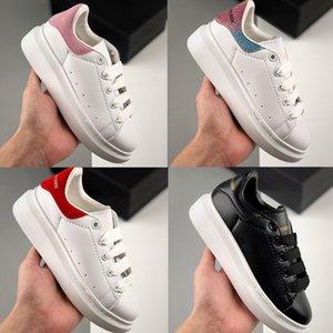 2020 Детская обувь для мальчиков девочек мода кроссовки из кожи 3M отражающей черный белый бархат толстой подошве плоские Рост Увеличение детям прогулочной сек