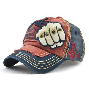 Venta al por mayor nuevos hombres mujeres marea moda cartas remache casquillo ocasional estilo retro puño gorra de béisbol casquette sombrero envío gratis