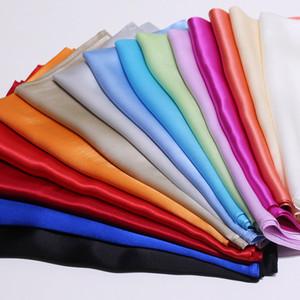 Verão Pure Color Pigment Lazer Joker Silk pequeno lenço