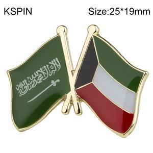 Arabia Saudita Kuwait amicizia Bandiera Spilla Distintivo Bandiera Spilla Spille Badge Spilla XY0484