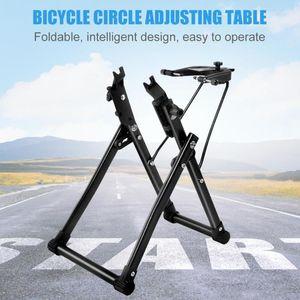 Hogar mecánico bicicleta rueda Truing soporte rueda mantenimiento hogar Truing soporte soporte herramienta de reparación de bicicletas